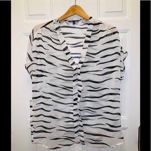 Victoria Secrets L sheer zebra top